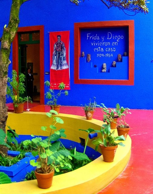 Frida Kahlo's Blue House, Mexico, City.