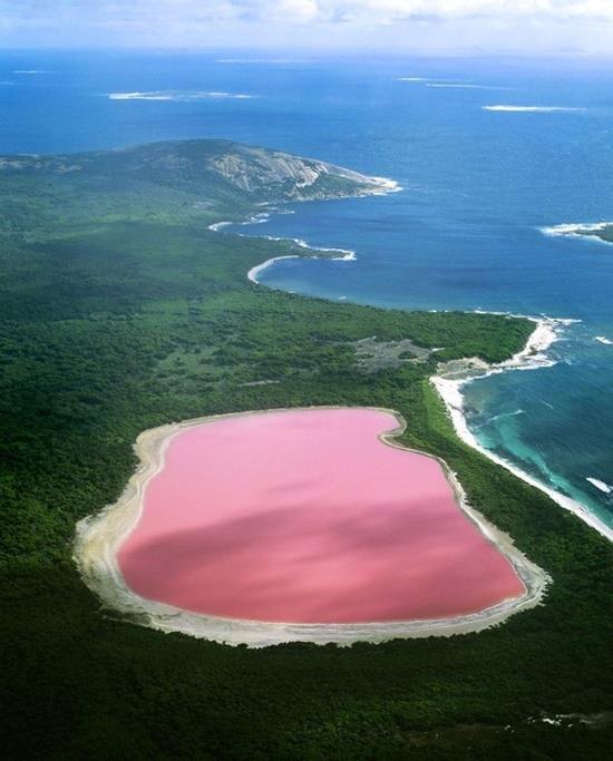Pink Lake, Western, Australia