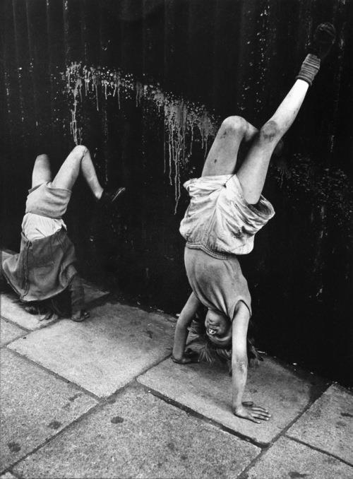 Roger Mayne - Girls Doing Handstands, Southam Street, London 1956