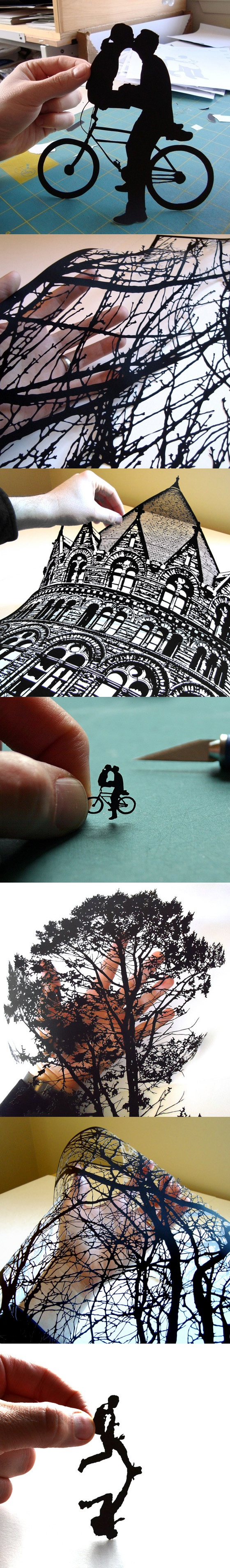 hand-cut paper art by Joe Bagley