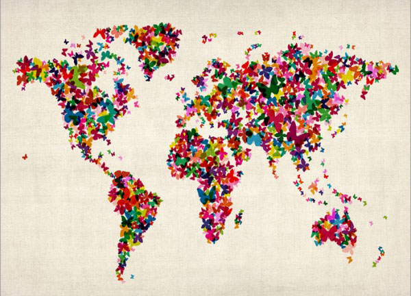 butterflies-world-map
