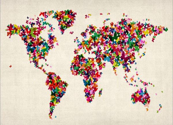 butterflies-world-map