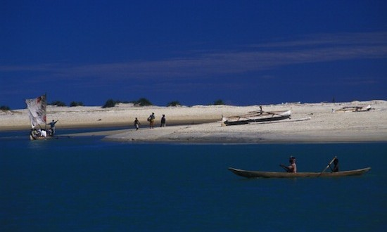 White sands and turquoise waters of Morondava