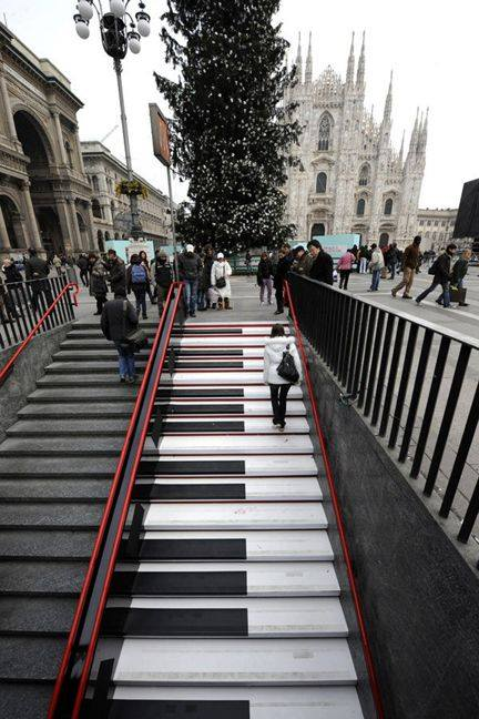 Musicalstairs in Milan, Italy