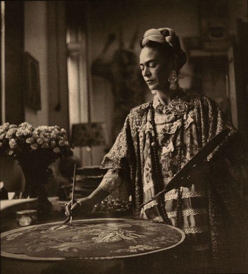 Frida at work