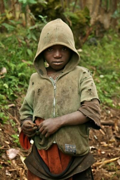 Justus Uwayesu em sua infância