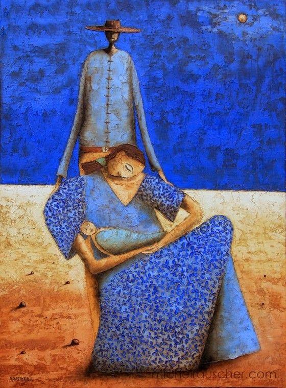 O cotidiano da África na pintura de Michel Rauscher e na voz de poetisas africanas