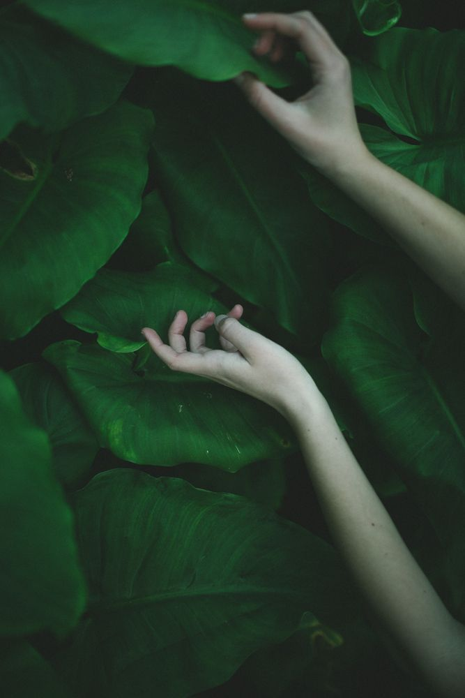 Hands on green by Julia Trotti