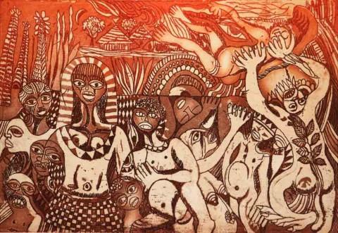 Malangatana - Ritual de Iniciação