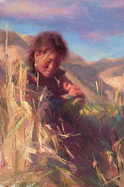 Barley fields below Everest- 2005Susan