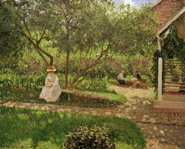 C.Pissarro, Ecke im Garten von Eragny - Pissarro / Coin de jardin a Eragny - C.Pissarro / Coin de jardin a Eragny