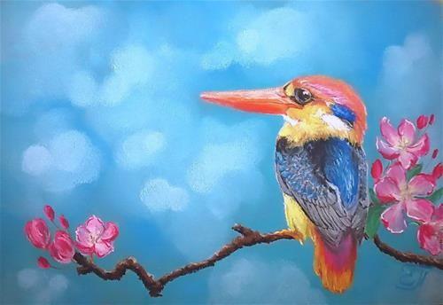 Messenger of spring - © Katerina Pyatakova Pastel