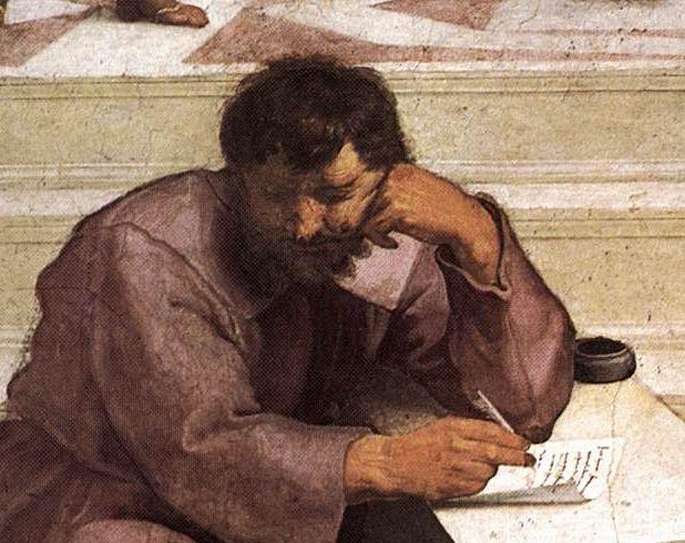 Heráclito pintado por Rafael-afresco