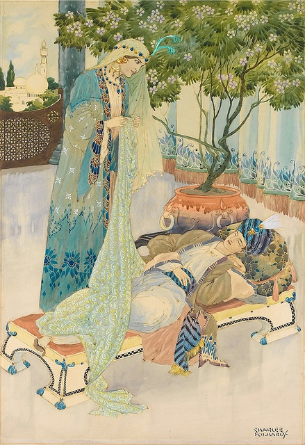 "Charles Folkard, ""Arabian nights"""
