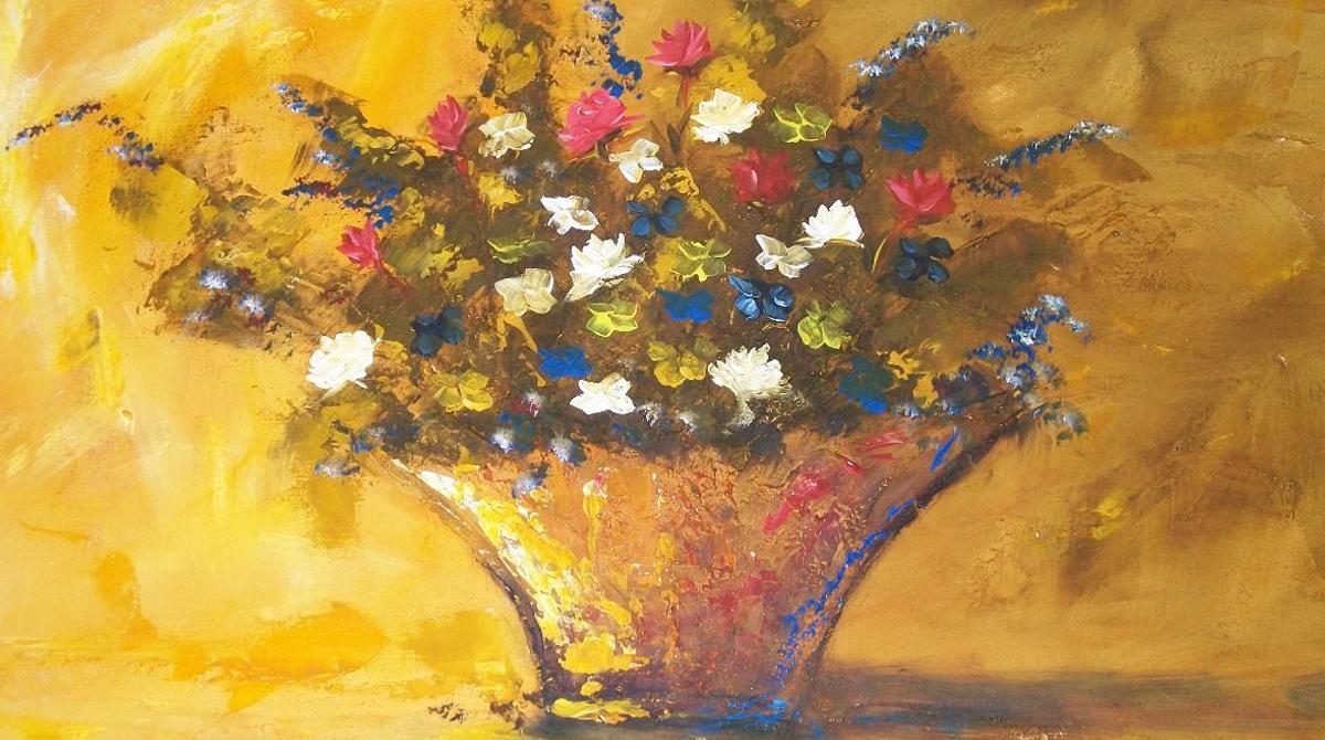 a vida é como um vaso cujo vazio deve ser preenchido com flores