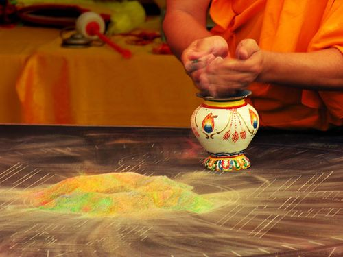 Tibetan Sand Mandala Destruction by Jessica Foote