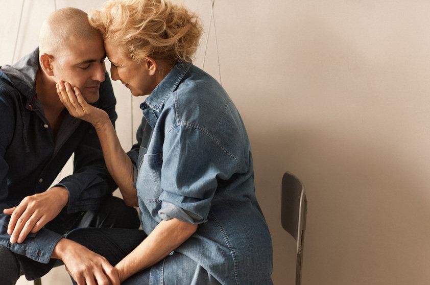 O ator Reynaldo Gianecchini com a mãe Heloísa Helena