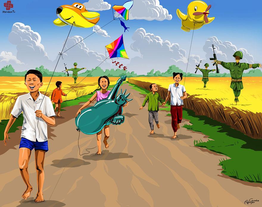 ilustrações crianças gunduz aghayev_1b