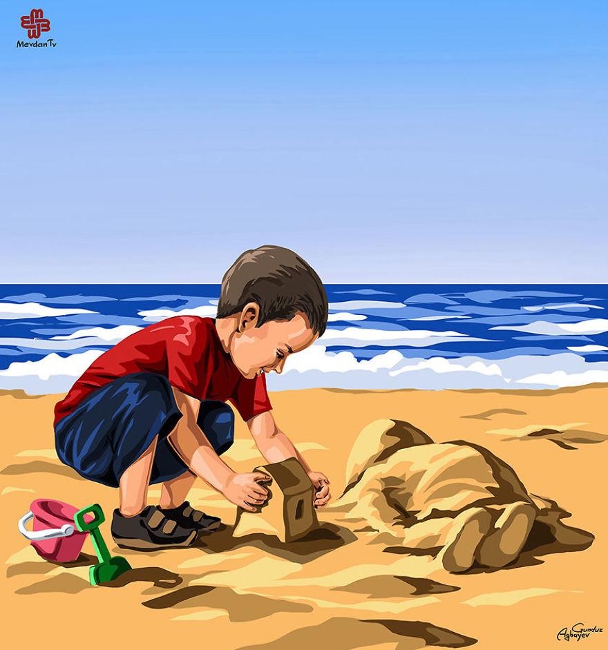 ilustrações crianças gunduz aghayev_4b