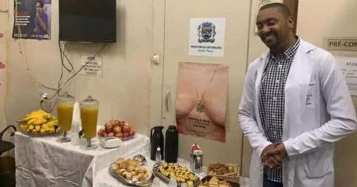 Resultado de imagem para Médico do SUS oferece café da manhã aos pacientes com fome na fila de espera e comove a web