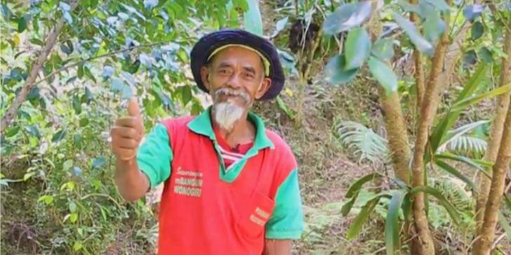 Conheça o homem de 68 anos que plantou mais de 11 mil árvores na Indonésia.
