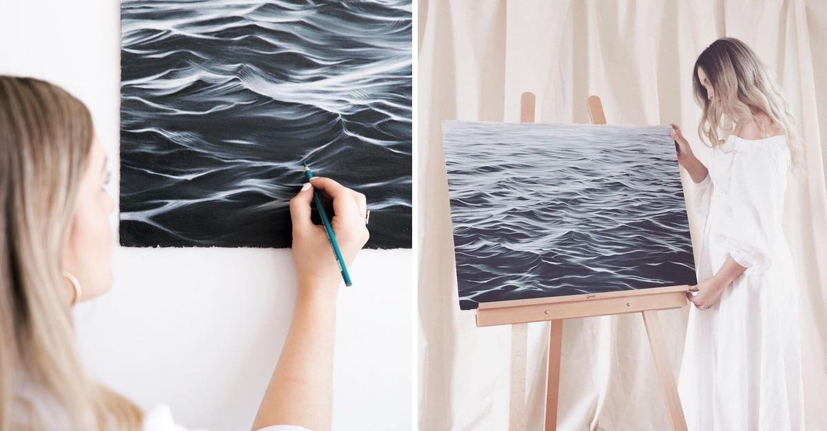 """Resultado de imagem para Ela abandonou o seu emprego para pintar as ondas do mar"""""""